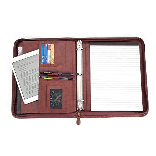 2c7d1a44d Professional Business Padfolio Portfolio Briefcase Style Organizer Folder  with Handles Notepad and 3 Ring Binder -