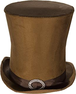 Jay Hats Costume Accessory - Candyman Style Brown Suede Tall Hat Top Hat