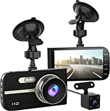 "$54 » Full HD 1080P Dash Cam Front and Rear 290 Degree Super Wide Angle Car Camera Recorder 4.0"" Screen Dash Camera for Cars with G-Sensor Motion Detection Parking Mode etc"