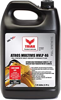TRIAX ATROS Multi-VIS AW 46 Full Synthetic Hydraulic Oil - 300% ADDITIVE Anti-WEAR Boost, 7,000-10,000 Hour Life, Arctic Grade - 54 Cold Flow & HIGH Temp Operations (1 GAL)