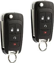 Car Key Fob Keyless Entry Remote Flip fits 2010-2017 Chevy Equinox, Sonic, Trax, Terrain (OHT01060512), Set of 2