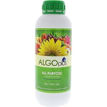 Algoflash All Purpose Formula - Liquid Fertilizer & Plant Food 1-Liter Bottle