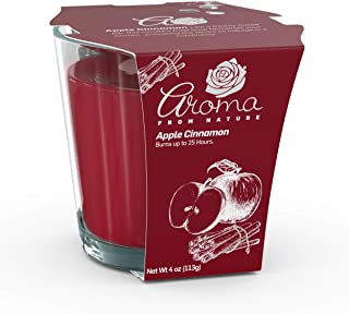 Aroma From Nature Apple Cinnamon 4 oz AireCare Scented Candle - 1 Pack - Aromatherapy Candles - Home Fragrance - Apothecar...