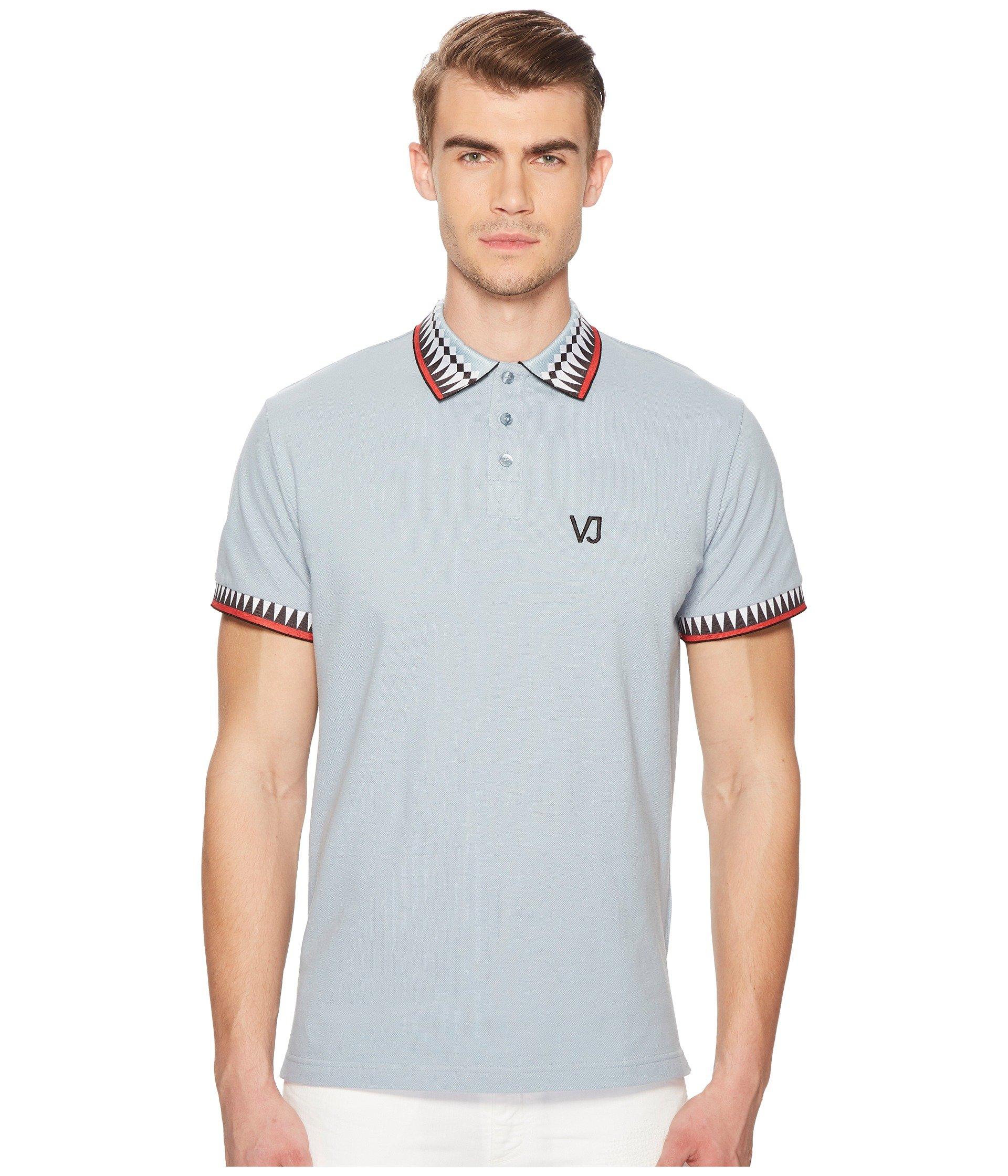Camiseta Tipo Polo para Hombre Versace Jeans Graphic Edge Polo  + Versace en VeoyCompro.net