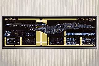 USS Enterprise-E - Sovereign Class Starship LCARS Poster (36 x 11.75 Panoramic)