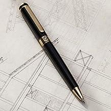 Black Luxury Mechanical Pencil Scriveiner - Stunning Design, 24K Gold Finish, Schmidt 0.7mm Mechanism, Spare Leads, Best G...