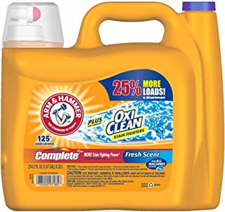 Arm & Hammer Complete with Oxi Clean Liquid Laundry Detergent, 214.2 Fluid Ounce