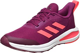 Adidas fortarun Mesh Textile Three Side Stripe Logo Tongue Lace-Up Shoes for Kids
