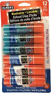 Elmer's Washable School Glue Sticks, 6 Gel & 6 Disappearing Purple, 12 Total Sticks