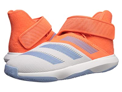 adidas Harden B/E 3 (Footwear White/Hi-Res Coral/Glow Blue) Men