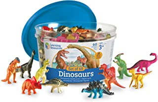 Learning Resources Dinosaur Counters, Set of 60 Colored Dinosaurs, Fine Motor Dinosaur Toy, Ages 3+