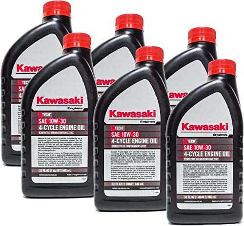 popular Kawasaki outlet online sale discount 99969-6081 Pack of 6 Quarts 4 Cycle Engine Oil 10W-30 sale