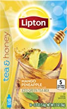 Lipton Tea and Honey Iced Tea To Go Packets, Mango Pineapple, 10 ct