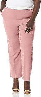 Alfred Dunner womens Plus Full back elastic proportioned medium pant Pants
