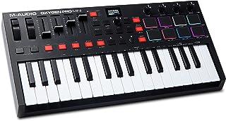 M-Audio Oxygen Pro Mini - Teclado controlador MIDI USB de 32 teclas con beat pads, knobs, botones y atenuadores asignables...