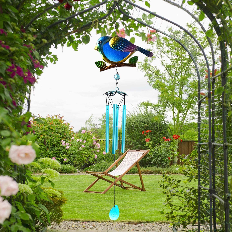 zhengshizuo Iron Wind Chimes Blue Bird Wind Chimes Mom Gardening Gifts Indoor//Outdoor Decor Garden Yard Wind Chimes Windchimes