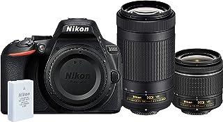 Nikon D5600 AF-P 18-55mm VR + AF-P 70-300mm VR Twin Lens Kit, Black (851501) - Australian Warranty
