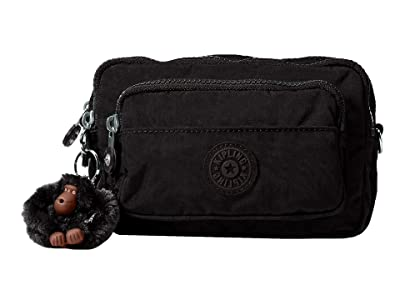 Kipling Multiple Belt Crossbody Bag (Black 1) Messenger Bags