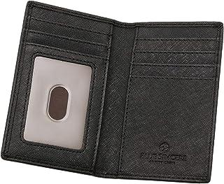 BLUE SINCERE 本革 カードケース 磁気防止 薄型 メンズ 二つ折り カード9枚収納 カード入れ パスケース クレジットカード 免許証 SLC4