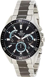 ساعة كاسيو كواترز للرجال شاشة كرونوغراف وبسوار ستانلس ستيل EFR-552SBK-1AVUDF