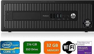 HP Prodesk 600 G1 SFF Slim Business Desktop Computer, Intel I5-4570 3.20 GHz, 32GB RAM, 256GB SSD, DVD, USB 3.0, Windows 10 Pro 64 Bit (Renewed)