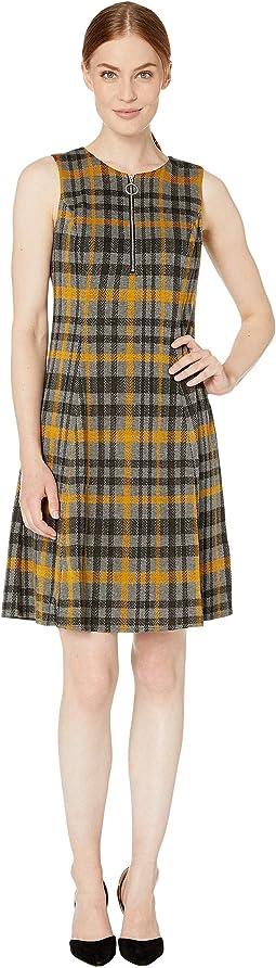 Split-Neck Sleeveless Dress