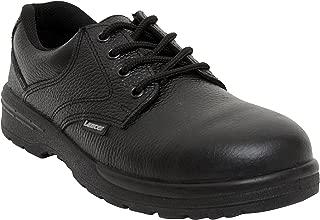 Lancer 202LA Men's Safety Shoe with Steel Toe Cap, Size-6 UK, Black