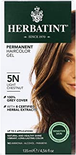 Herbatint Permanent Haircolor Gel, 5N Light Chestnut (5N) 4.56 Fl Oz