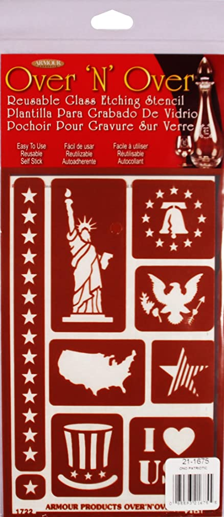 Armour 21-1675 Over Over N Over Stencil Patriotic Crafts Supplies