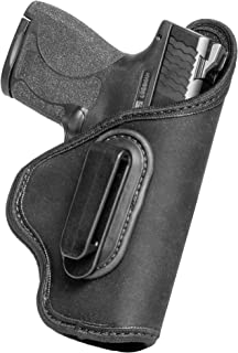 IWB Universal Carry Holster w/Belt Clip (Grip Tuck) by Alien Gear for 1911 S&W Shield Glock 17 19 43 21 Sig P320 P365 Plus All similarly Sized Handguns Based on Barrel Length from Full to Sub Compact