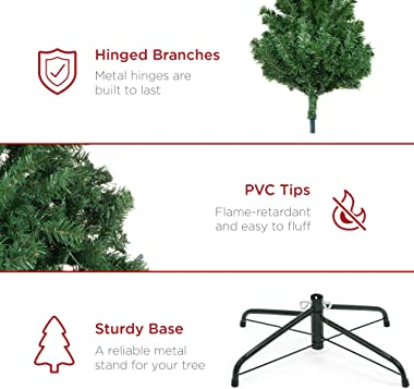 Best Choice Products 7.5ft Premium Spruce Artificial Holiday Christmas Tree for Home, Office, Party Decoration w/ 1,346 Branc