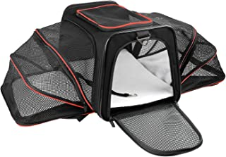 X-ZONE PET Airline Approved Pet Carriers,Soft Sided Collapsible Pet Travel Carrier for Medium Puppy and Cats