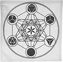 "Okdokey 14.9"" Metatron Cube Sacred Geometry Crystal Grid Cotton Cloth Type B, for Yoga Meditation, Witch Ritual, Pagan Alt..."