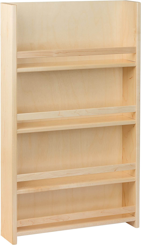 "Century Components SRAS15PF Wood Door Mount Kitchen Spice Rack Organizer, 15"""