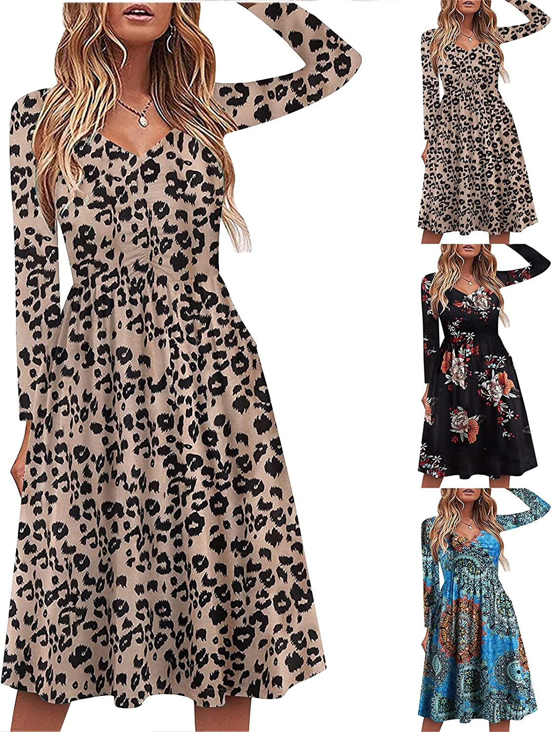 Womens Dresses Chiffon Sundress Casual Two Piece Outfit Dress Solid Cardigan Floral Print Sleeveless Maxi Long Skirt