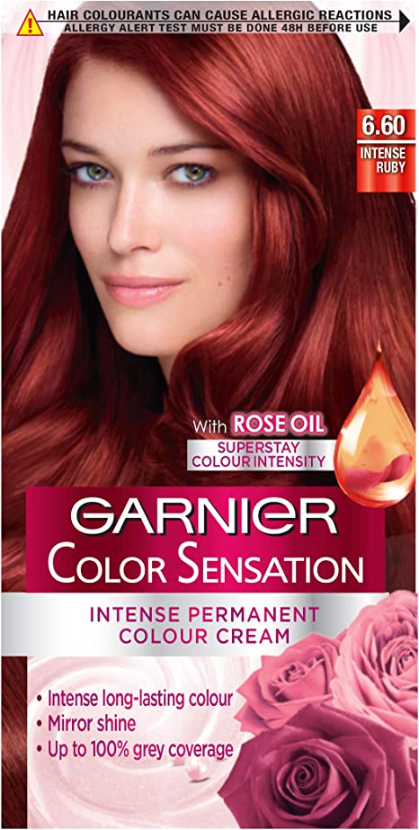 Garnier Color Sensation Crema Permanente 6.0 Precious marrón ...