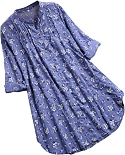 Stylish Jewelry V-Neck Pleated Floral Print Long Sleeve Casual Tops Kimono Mujer Drship