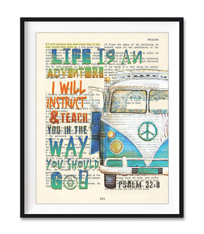 Psalm 32:8 Popular standard - Life Is an Store Antique Van Adventure Classic Vi Car