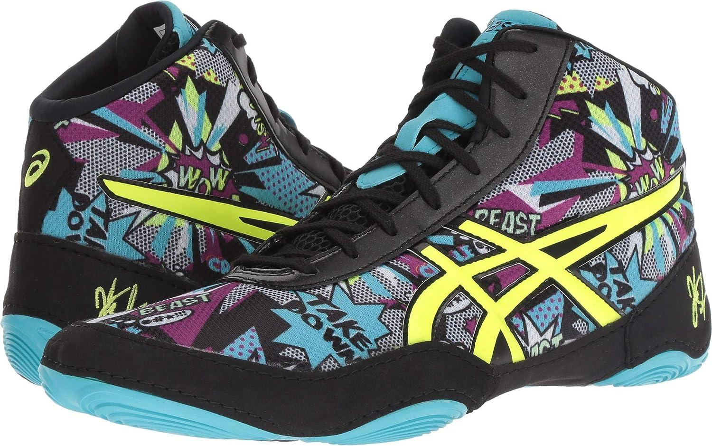 ASICS Men's JB Elite V2.0 Wrestling shoes, Comic Flash Yellow bluee Alt, Size 11