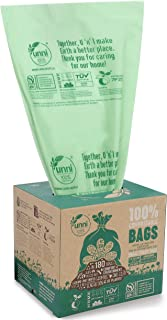 UNNI ASTM D6400 100% Compostable Trash Bags, 2.6 Gallon, 9.84 Liter, 100 Count, Extra..
