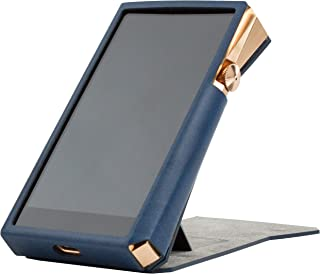 for Astell&Kern A&Ultima SP2000 SP1000, Handmade Miter PU Leather Case Cover [Patented Stand Case] AK SP1000 SP2000 (Navy)