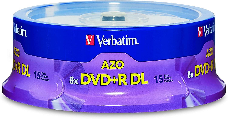Verbatim Dvd R Dl 8 5 Gb 8x Mit Marken Oberfläche 15 Disc 15 Disc Violett Audio Hifi