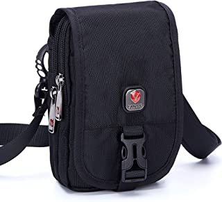 VIIGER Multipurpose Nylon Small Crossbody Bag Mini Shoulder Bag Cell Phone Purse Travel Belt Pouch Bag Waist Bag with Removable Shoulder Strap Compatible for iPhone Xs Max/X/6/7/8 Plus Galaxy S8 Plus
