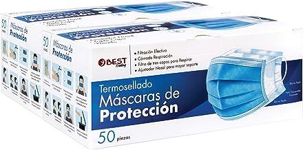 Best Trading Cubrebocas, Tapabocas Azul Termosellado con 3 Capas de Protección, Mascarilla Desechable (100 Piezas)