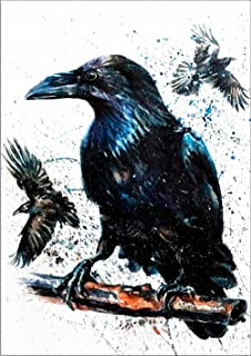 raven and wolf art