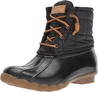 SPERRY Women's Saltwater Shiny Quilted Rain Boot