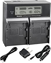 Kastar LCD Dual Fast Charger for Canon BP-A30 BP-A60 BP-A90 Battery, CG-A10 CG-A20 Charger and Canon EOS C200, EOS C200B, EOS C220B, Canon XF705 4K UHD, EOS C300 Mark II PL Cinema EOS Cameras