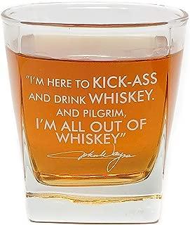 John Wayne Quote Whiskey Cocktail Glass, 10 oz