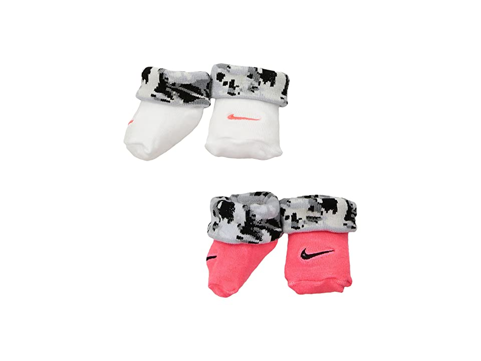 Nike Kids 2-Pair Pack Daytrip Cuff Bootie (Infant) (Racer Pink) Girls Shoes