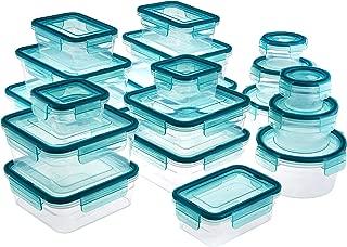 AmazonBasics 38 Piece Plastic Locking Food Storage...